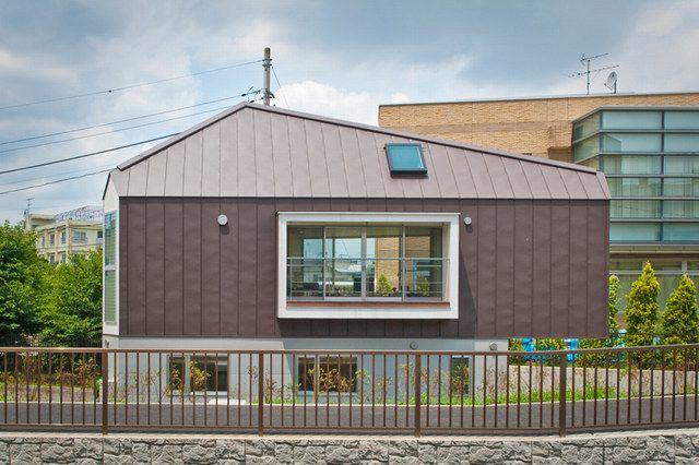 日本崛之内住宅:据地基而建的三角形建筑图片