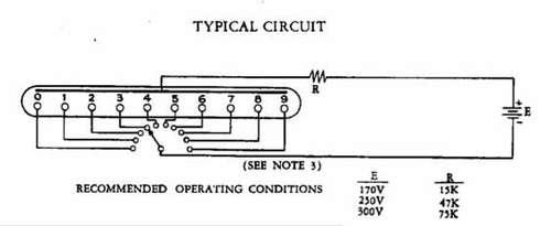 1 从数码管开始       在各种辉光管的驱动电路里我看中了这个简单