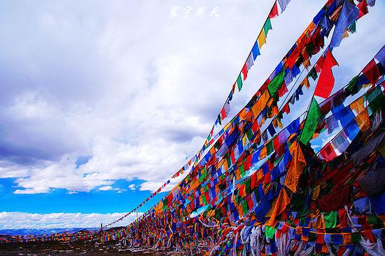 藏族经幡矢量图