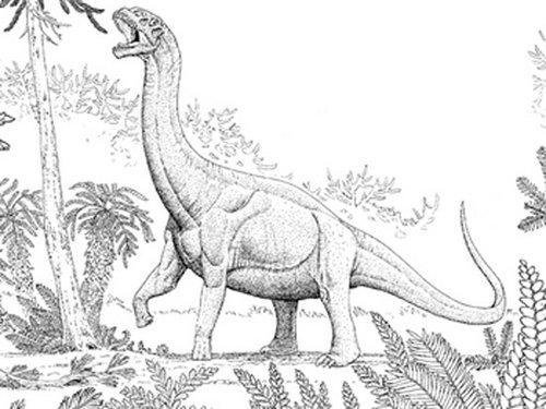 儿童简笔画大全 恐龙母子