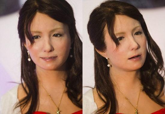 日本研制动态机器人面部:有65种美女演员(图)-制作表情表情问候图片