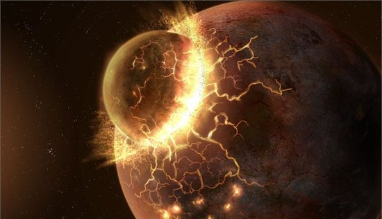 月球起源于远古时期的火星撞地球