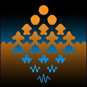 受艺术家毛里茨·科内利斯·埃舍尔作品的启发绘制的艺术图,显示了光在粒子态和波形态之间的连续变化。