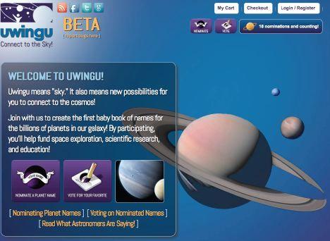 :这是Uwingu网站页面的截图