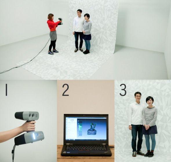 """日本一家名为Omote 3D的公司将在原宿开设据称是全球首家的3D打印""""照相店""""。"""