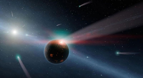 古老星球被众多气体环绕原因 彗星碰撞6秒/次