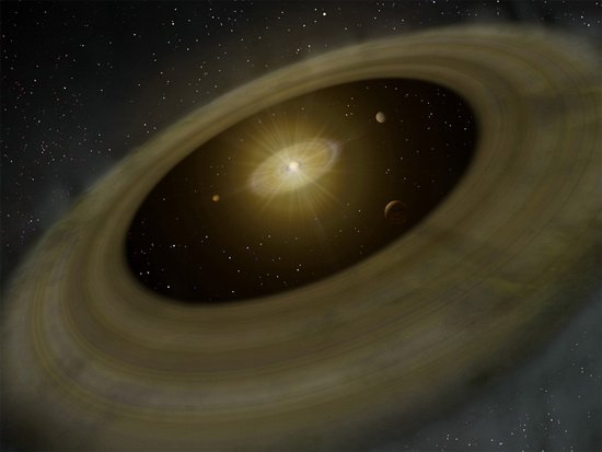 """科学家观测到宇宙中的""""行星幼儿园"""""""