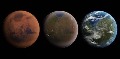 """将一些原本不适宜居住的星球进行改造,使之转变为宜居环境,这一过程被称之为""""地球化改造"""""""